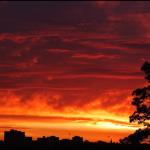 Sunset in Melbourne, Australia